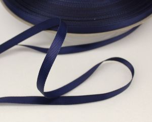 `Лента репсовая однотонная 06 мм, цвет: темно-синий