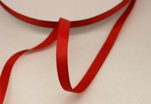 `Лента репсовая однотонная 09 мм, цвет: красный