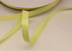 `Лента репсовая однотонная 09 мм, цвет: светло-желтый