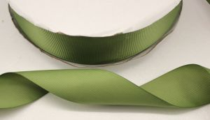 `Лента репсовая однотонная 38 мм, цвет: хаки