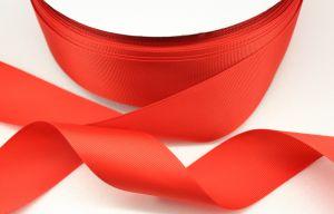 `Лента репсовая однотонная 38 мм, цвет: красный