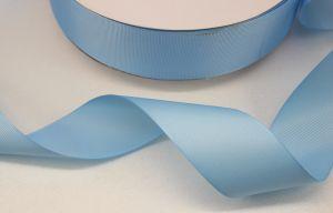 `Лента репсовая однотонная 38 мм, цвет: светло-голубой