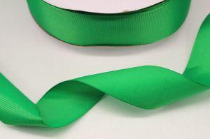 `Лента репсовая однотонная 38 мм, цвет: зеленый