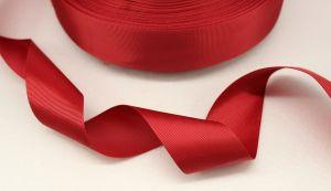 `Лента репсовая однотонная 38 мм, цвет: бордовый