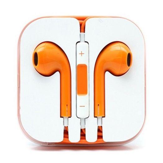 Наушники вакуумные - гарнитура Apple Iphone (оранжевый)