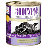 Зоогурман Мясное ассорти для собак говядина с рубцом и потрошками (750 г)