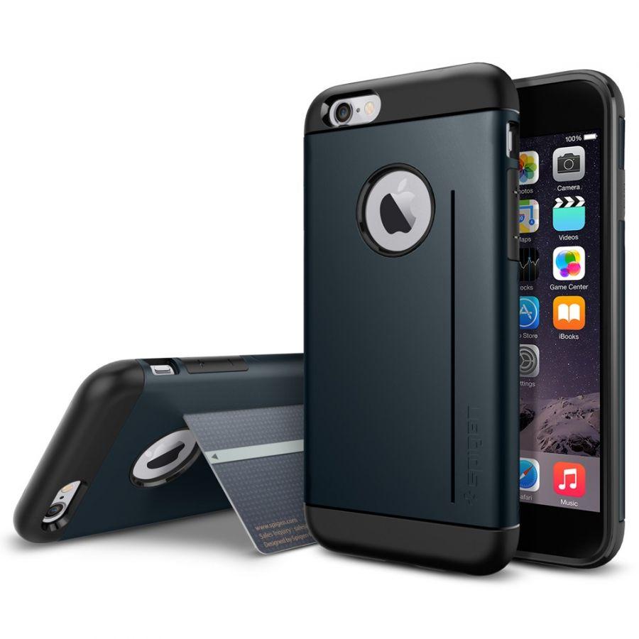Чехол Spigen Slim Armor S для iPhone 6/6S синий металлик