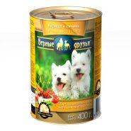 Верные друзья Для щенков всех пород Курица и печень в соусе (400 г)