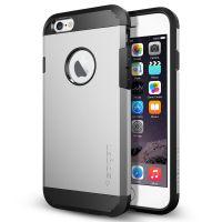 Чехол Spigen Tough Armor для iPhone 6/6S серебристый