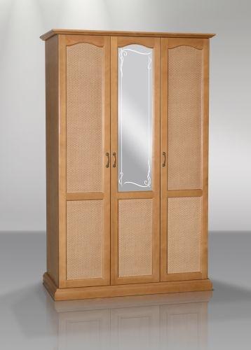 Шкаф распашной трехдверный (ротанг)  | Альянс XXI век