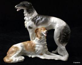 Две охотничьих собаки, Schaubach, Германия