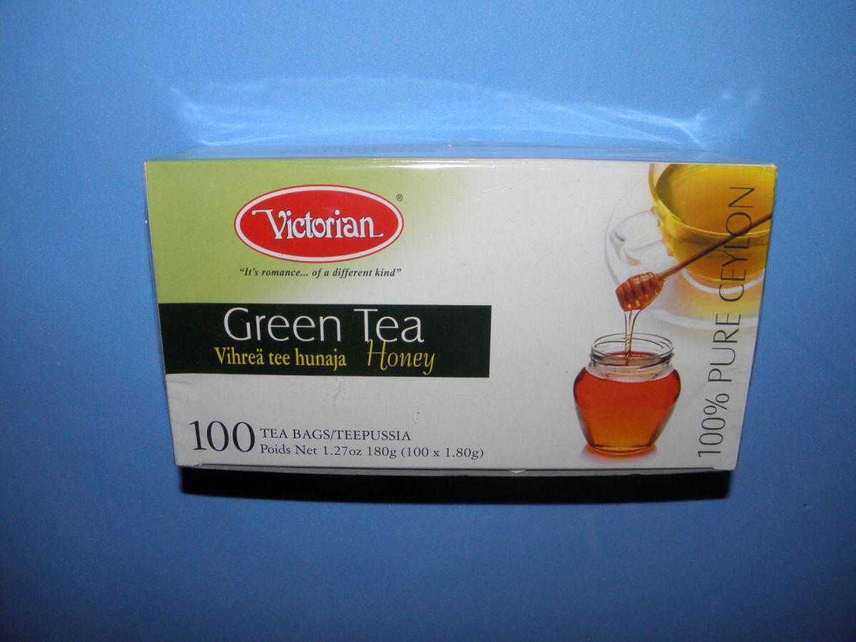 Чай Victorian Green Tea Honey (зеленый с медом) 100 пакетов