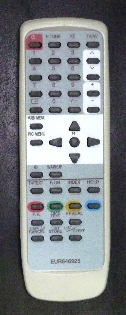 Пульт для Panasonic EUR646925 (TV) (TX-15PM11TQ, TX-15PM30T, TX-15PM50T, TX-21AM10T, TX-21PM10TQ, TX-21PM30TQ, TX-32PM11)