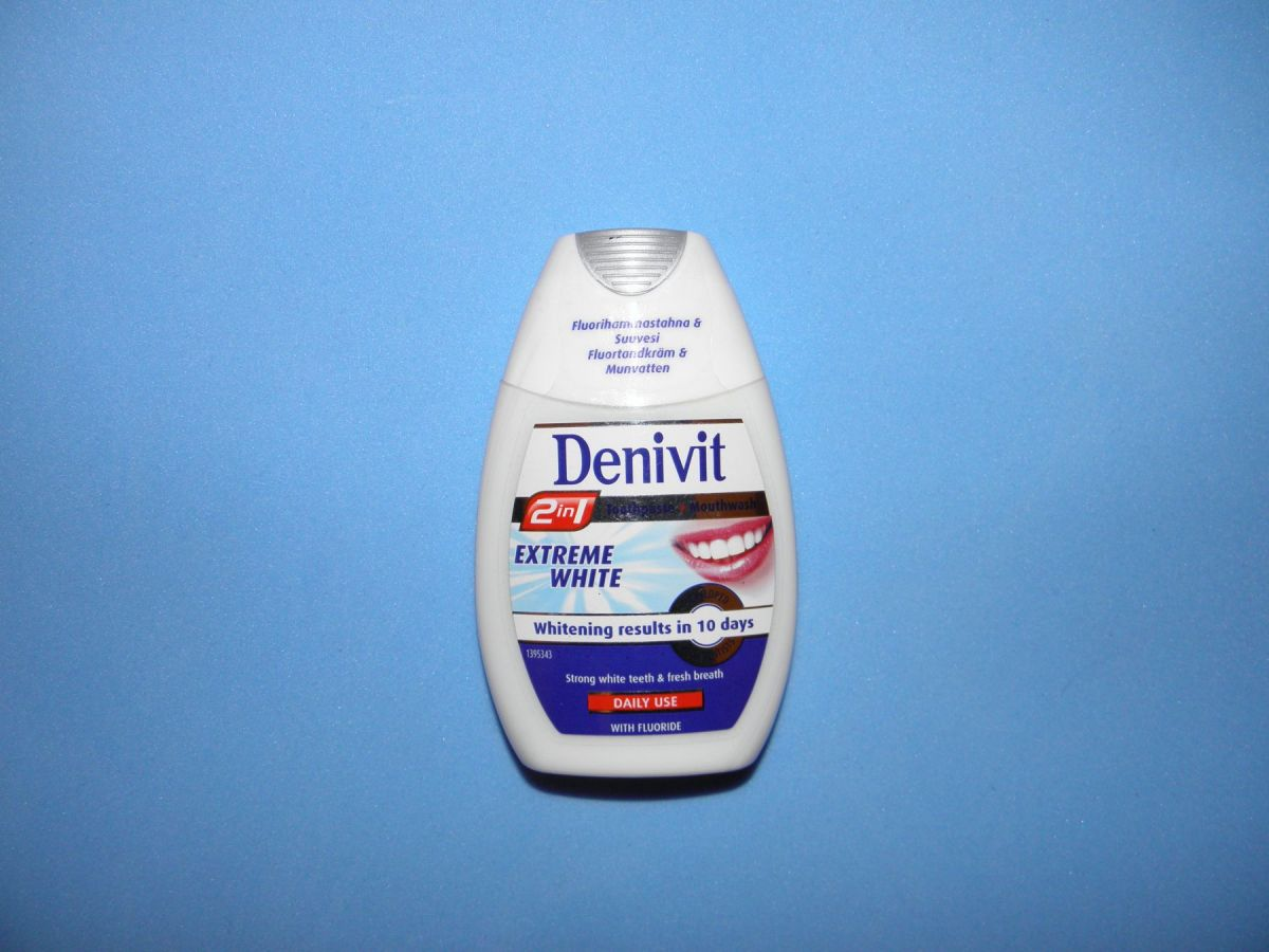 Зубная паста Denivit 2в1 (отбеливающая) 75мл