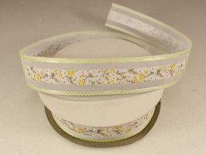 Лента декоративная, ширина 25 мм(313105), цвет: №8 лимонный (бобина 20+-0,3 ярдов)