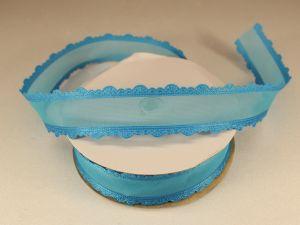 Лента декоративная, ширина 25 мм(313008), цвет: №6 морская волна (бобина 20+-0,3 ярдов)