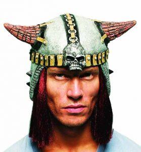 Шлем с рогами латексный