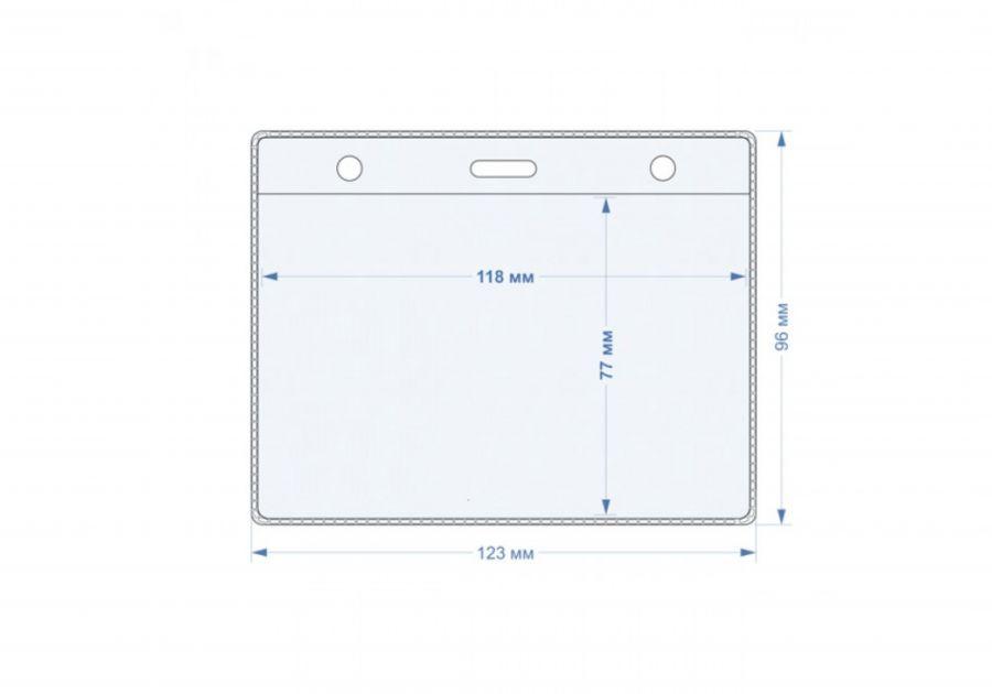 Пластиковый карман для бейджа 96*123 мм