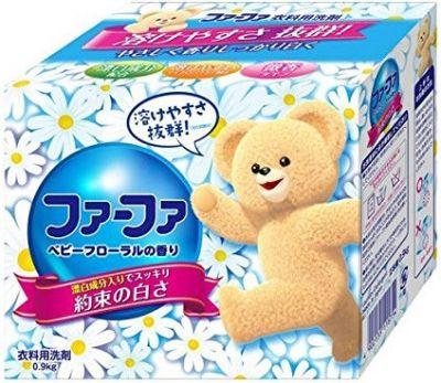 Японский концентрированный стиральный порошок для детской одежды c цветочным ароматом FaFa Series 900г