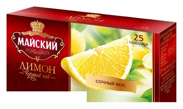 Чай Майский Лимон 1,5г 25пак.