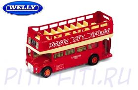 "WELLY. Масштаб 1:60-64. Автобус ""London Bus"""