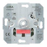 Merten Мех Светорегулятор-выключатель поворотно-нажим 60-400W для л/н и г/л