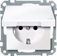 Розетка c/з с крышкой Merten System M Белый