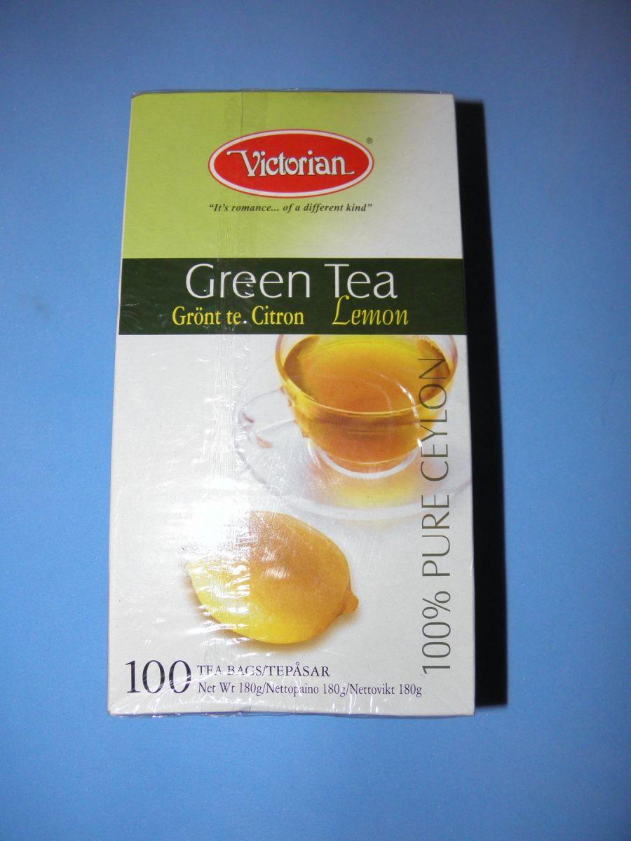 Чай Victorian Green Tea Lemon (зеленый с лимоном) 100 пакетов