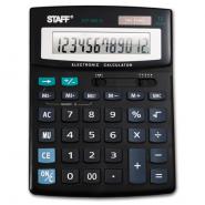 Калькулятор  настольный STF-888-12, 12 разрядов, двойное питание, Staff