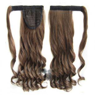 Искусственные термостойкие волосы - хвост волнистые №010 (55 см) -  90 гр.