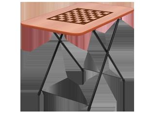 Стол туриста игровой с шахматной сеткой.