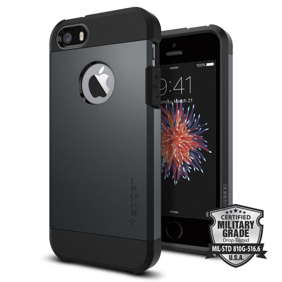 Чехол Spigen Tough Armor для iPhone 5/5s/SE синий металлик