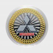 10 РУБЛЕЙ Mitsubishi  ЦВЕТНАЯ ЭМАЛЬ - СЕРИЯ АВТОМОБИЛИ МИРА - ЯПОНСКИЕ