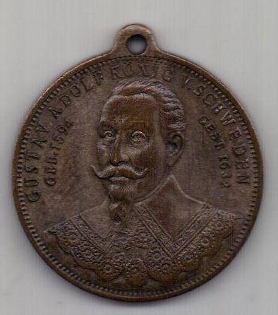 медаль 1896 г. Швеция