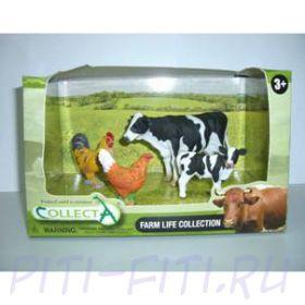 """GULLIVER Collecta. Дичь домашняя. Набор """"Ферма"""" в открытой коробке"""