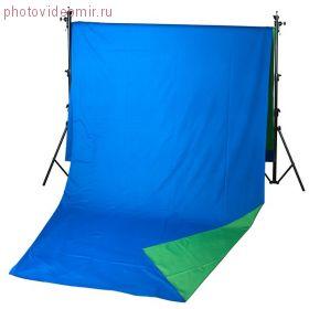 Фон хромакей Field 2.4 х 5.0 BG (зеленый/синий)