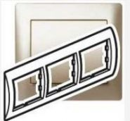 Рамка Legrand Galea Life 3 поста гориз.Titanium (арт.771403)