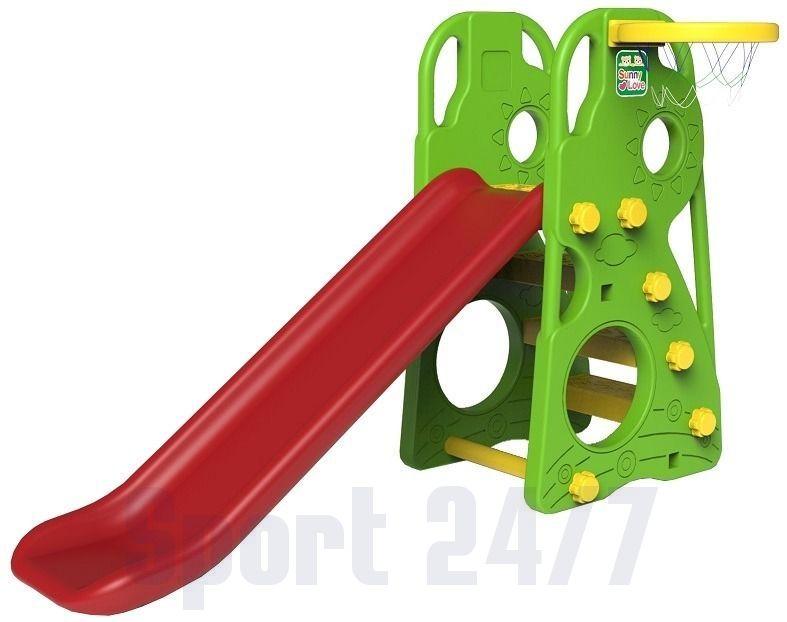 Детская горка с баскетбольным кольцом TO BABY CDH-100