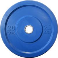 Диск 20 кг обрезиненный JOHNS (APOLO) отверстие d - 51 мм., цвет синий