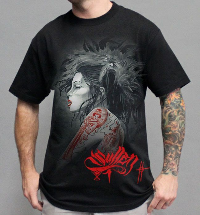 RED DRAGON Mens Black Tee Shirt
