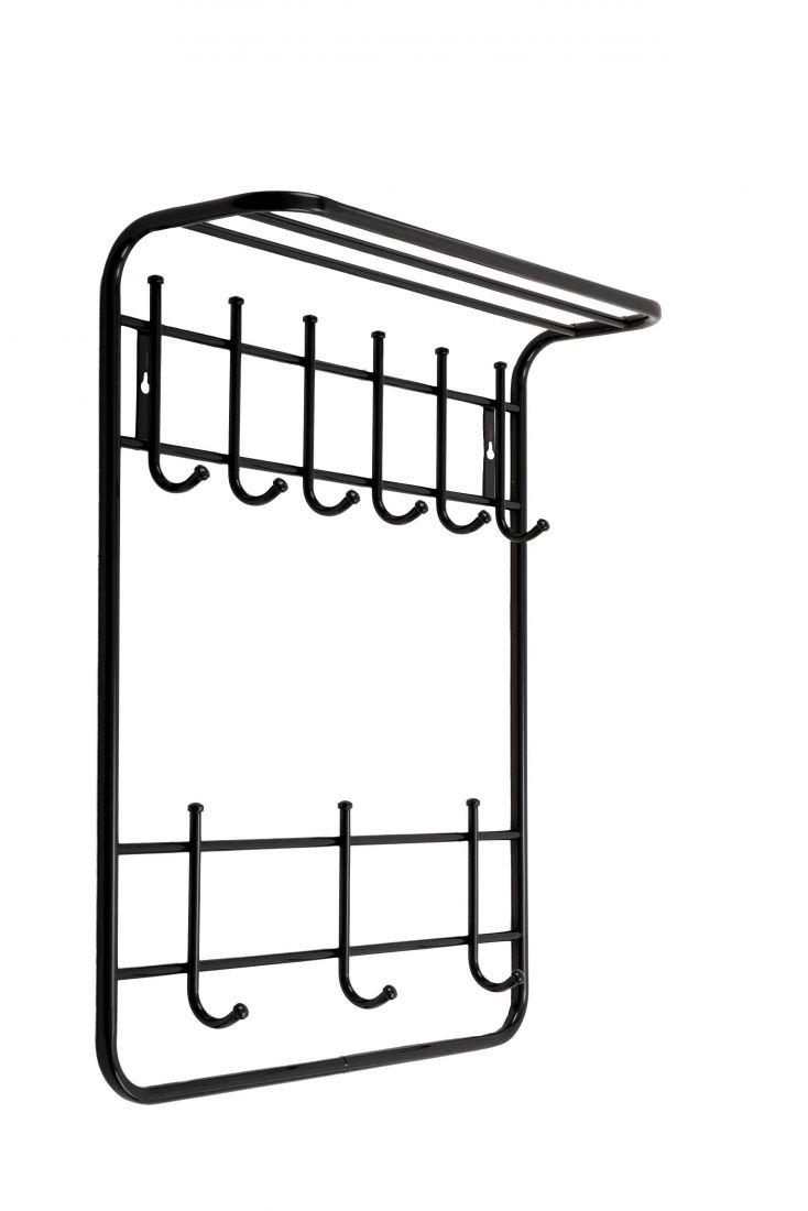 Вешалка для одежды настен. 2-х ярус.с полкой 60 см (60*73*20) ВСП9