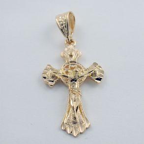 Мужской позолоченный крест
