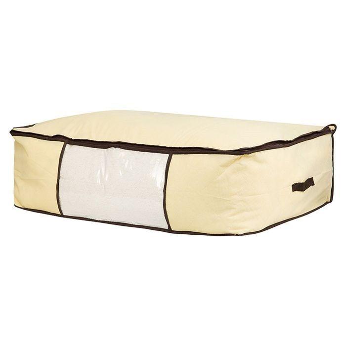 Мягкий кофр-чехол на молнии для хранения одеял, пледов и домашнего текстиля Guarda Mantas (Размер: 100х45х15 см)