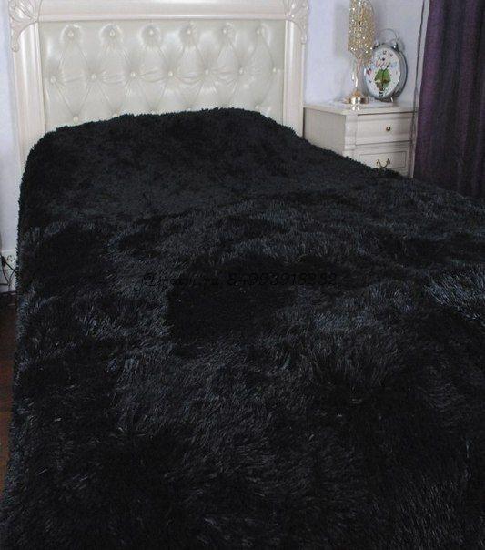 Меховое покрывало (черное)