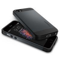 Чехол Spigen Slim Armor для iPhone 5/5s/SE синий металлик