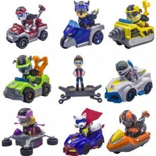 Набор героев Щенячий Патруль новое поколение - 9 героев на машинках
