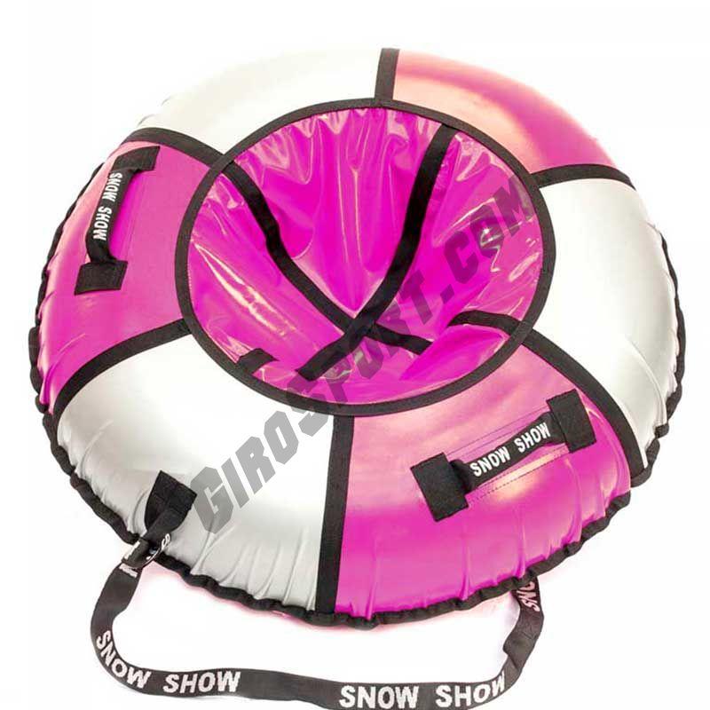 Тюбинг Практик 90 см розовый/серебро