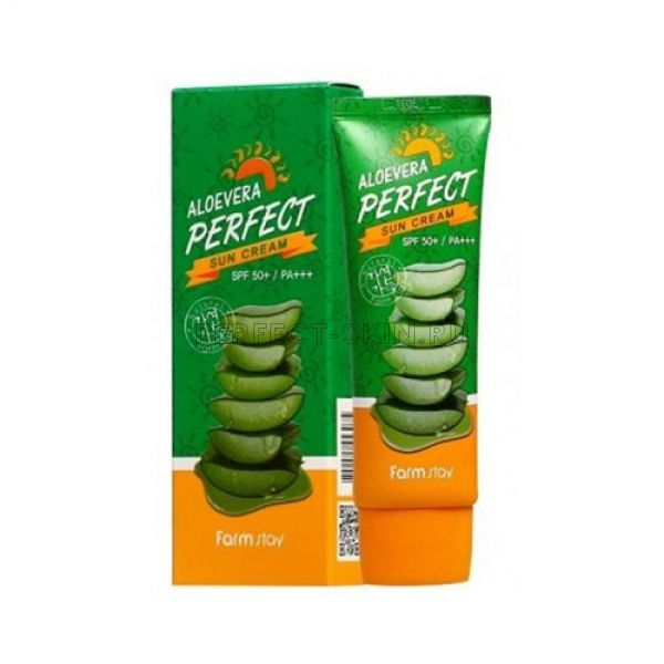 FarmStay Aloevera Perfect Sun Cream SPF 50+/PA+++