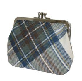 Шотландский кошелёк (клатч) тартан королевского клана Стюарт (синий вариант)