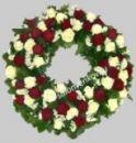 Элитный траурный венок из живых цветов N54, РАЗМЕР 60см